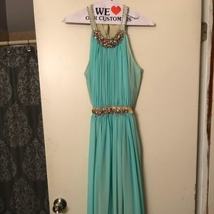 Mint green formal gown